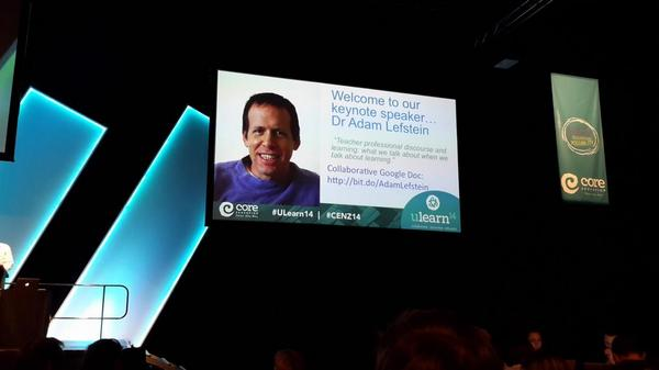 About to watch Dr Adam Lester present his keynote at #ulearn14 http://t.co/GA2CSL8vh0