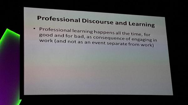 But we learn best with informal table discussions with or work colleagues #ulearn14 http://t.co/TZ8w3OZ55H
