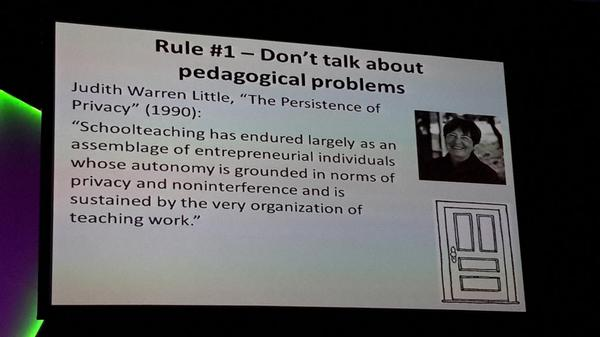 It has been considered rude to go into another's class & talking pedagogy. Needs to change. #ulearn14 http://t.co/yPSKLU7Ax2
