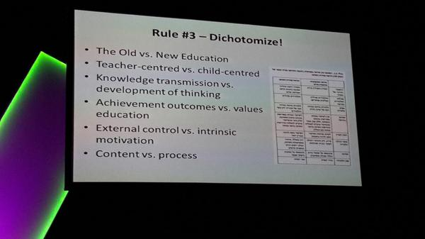 What verses what in your classroom? The old v the new going on since way back when. #ulearn14 http://t.co/eU3lvQxMox