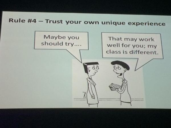 We are not all radically unique - theres a lot to learn from each other - trust your own unique experience #ulearn14 http://t.co/iMVTMDVG5D