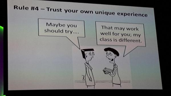 Just has we are unique there are a lot things we have in common as tchrs.  Can learn from each other. #ulearn14 http://t.co/2pDvQIr47x