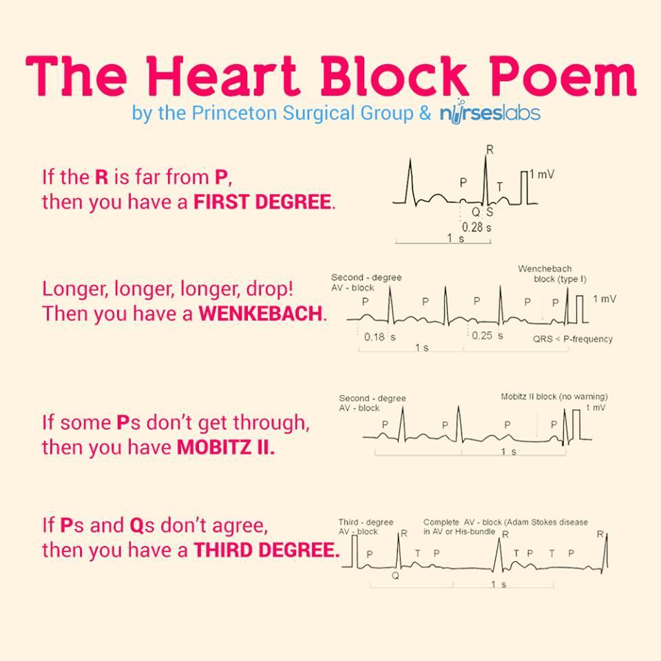 "PHI Air Medical on Twitter: ""The Heart Block Poem #nurse # ..."