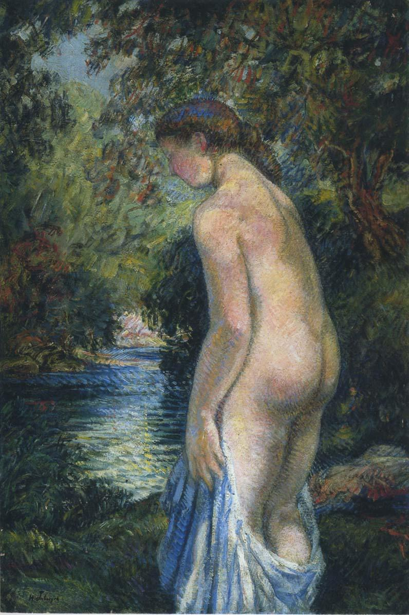 Young bathers by the river