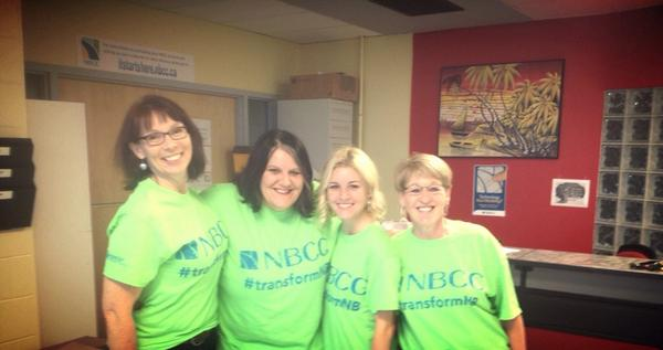 Tshirt Patrol! Handing out tshirts for students! #transformNB Student Development! @CaroleMurphy20 #transformnb http://t.co/eUM473s96L