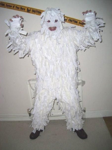 how to make a yeti costume