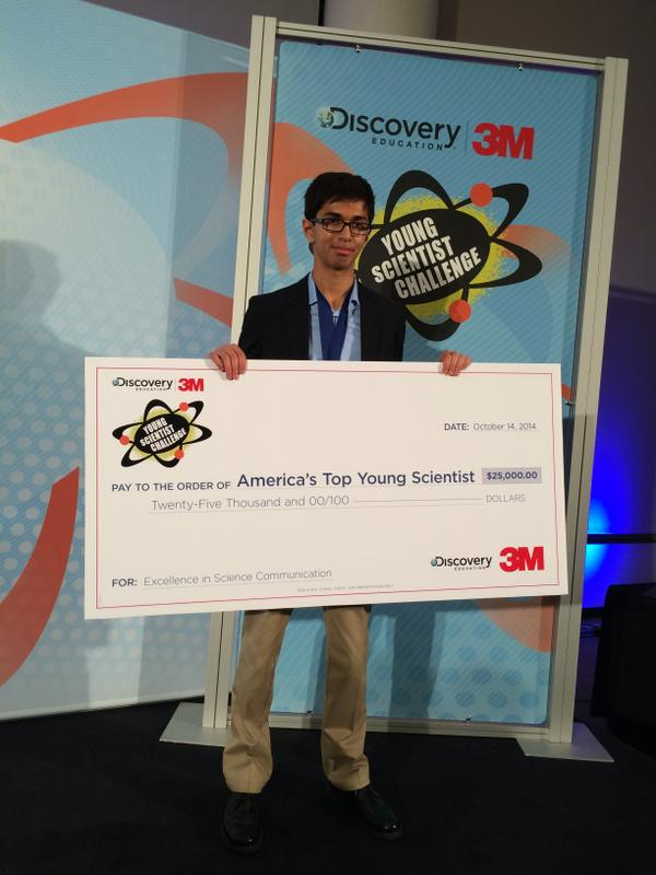 14-Year-Old Who Built Low-Cost Battery Is Named 'Top Young Scientist'