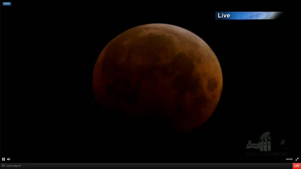 #LunarEclipse glow transformed the moon into a great red orb. Watch: http://t.co/5frjTxM9a9 #eclipse #bloodmoon http://t.co/ciJSs66d2P