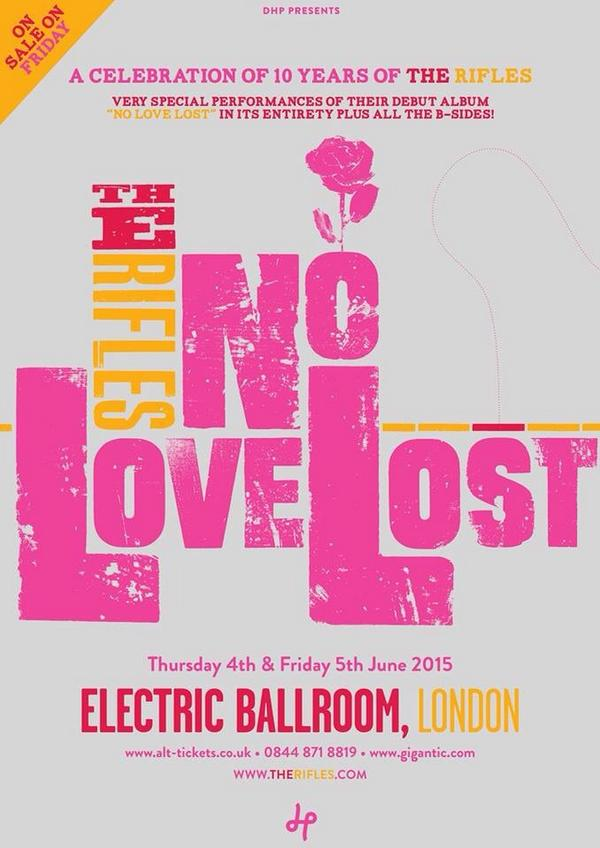 So here's the good news! playing two very special gigs at the electric ballroom. Playing No Love Lost in full http://t.co/KYFer2n0rK