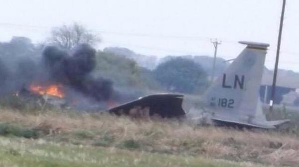 US Air Force Jet Crashes In English Countryside