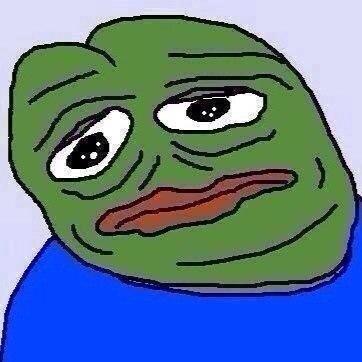 Pepe The Frog Meme On Twitter Sad Is Deformed Tco OiT6iDxOW6