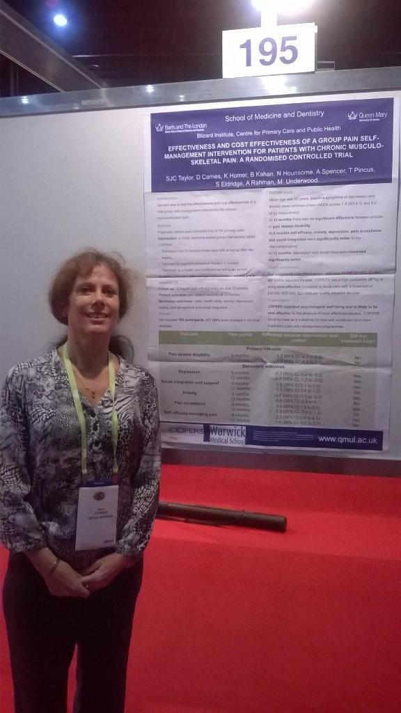 Dr Carnes at the World Pain Conference 2014 in Buenos Aires.