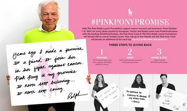 Join @RalphLauren to fight cancer! Show ur support #pinkponypromise http://t.co/d9cYRypB1O http://t.co/PKcIP1UfaB