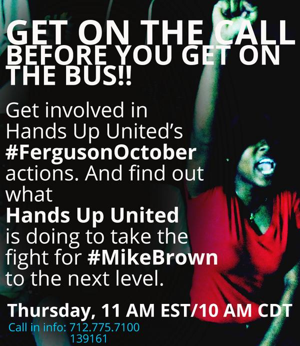 @HakimBe @RippDemUp @BrotherJesse @VanJones68 Please join us on our #Ferguson conference call 11am EST tomorrow(RT!) http://t.co/MeaSrn1rhC