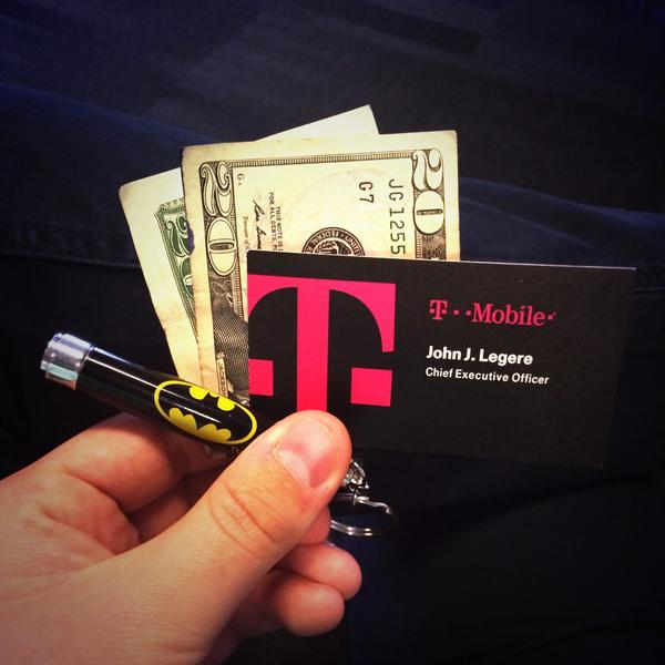 John brennan brennanjp twitter influencer analysis klear t mobile ceo johnlegere just gave me his business card 20 bucks and a bat signal keychain to switch from verizon httptmyqzi55zcn colourmoves