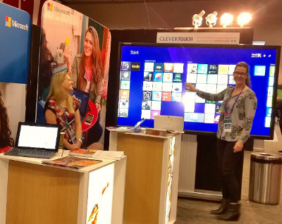 "Giant #touchscreen at the Microsoft stand at #ulearn14 Plenty of screen real estate with the 4K 84"" Clevertouch IFPD http://t.co/hwg9jYFymT"