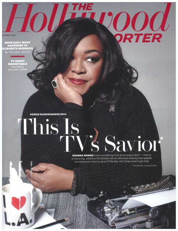 Showrunner Powerhouse @ShondaRhimes SHINES on the cover of this week's @THR: http://t.co/lQp0RnjCk8 http://t.co/1m0C8WWh2T