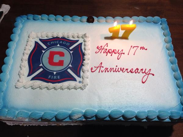 Wondrous Chicago Fire Fc On Twitter Birthday Cake Happy Anniversary Fire Birthday Cards Printable Giouspongecafe Filternl
