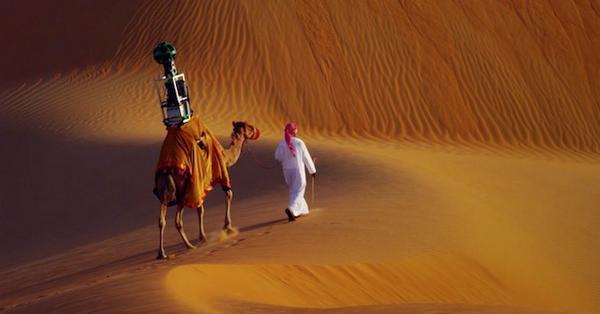 Google hired a camel to get a Street View of the Liwa Desert http://t.co/gPxDjZIhzk http://t.co/dXbJmsrBfm