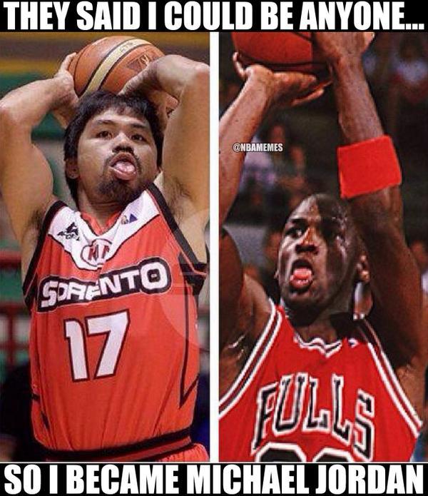 "NBA Memes on Twitter: ""Michael Jordan vs. Manny Pacquiao ..."