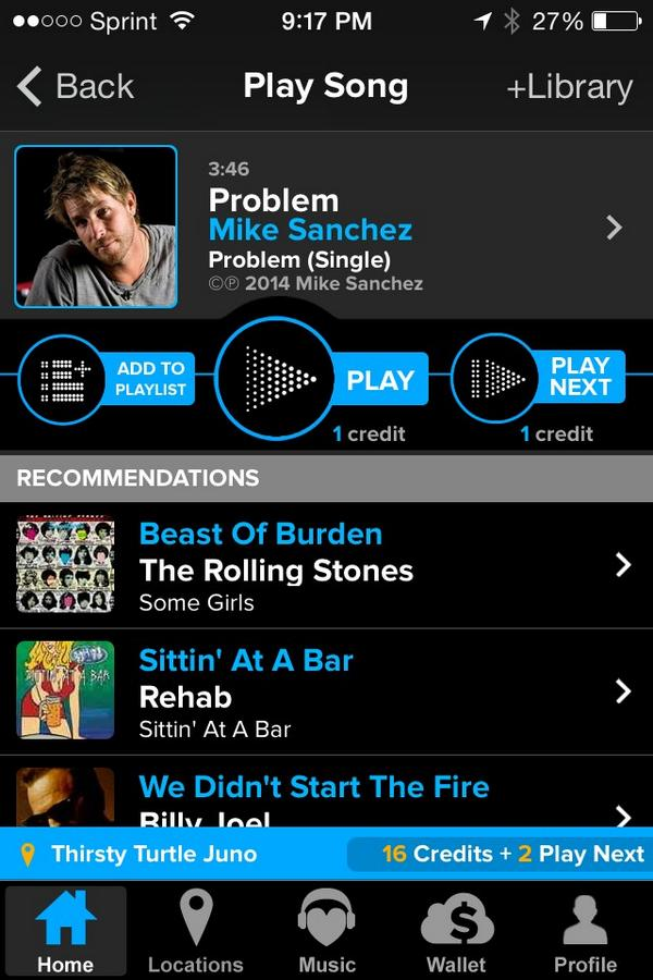 """If u are by a @TouchTunes Jukebox.Please play #breakoutband Top 10 song """"Problem"""" ....please help me win this!!:) http://t.co/jZbDlZClAl"""