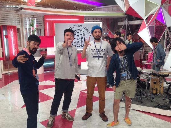 【現在リハーサル中っ!】このあと、S.O.Aは日本テレビ系「スッキリ!!」 9時台の「スッキリエンタメ 略して スッタメ」のコーナー で生演奏しますよ~!みなさまお楽しみにっ! http://t.co/dHjncwKZDj