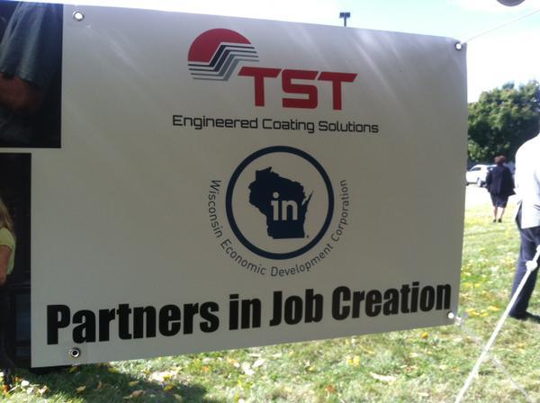 TST expansion announcement in Sun Prairie, WI