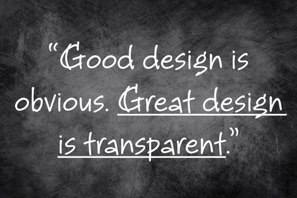 """Good design is obvious. Great design is transparent."" - Joe Sparano http://t.co/1JubAxgkhs http://t.co/fUpPQEJW6L"