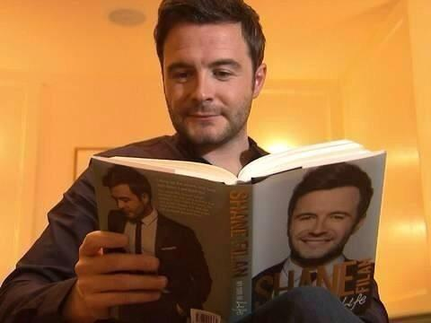 Get ur copies too guys @ShaneFilan just reading his own book.