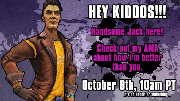 Borderlands 3 On Twitter Handsome Jack Is Doing An Ama On