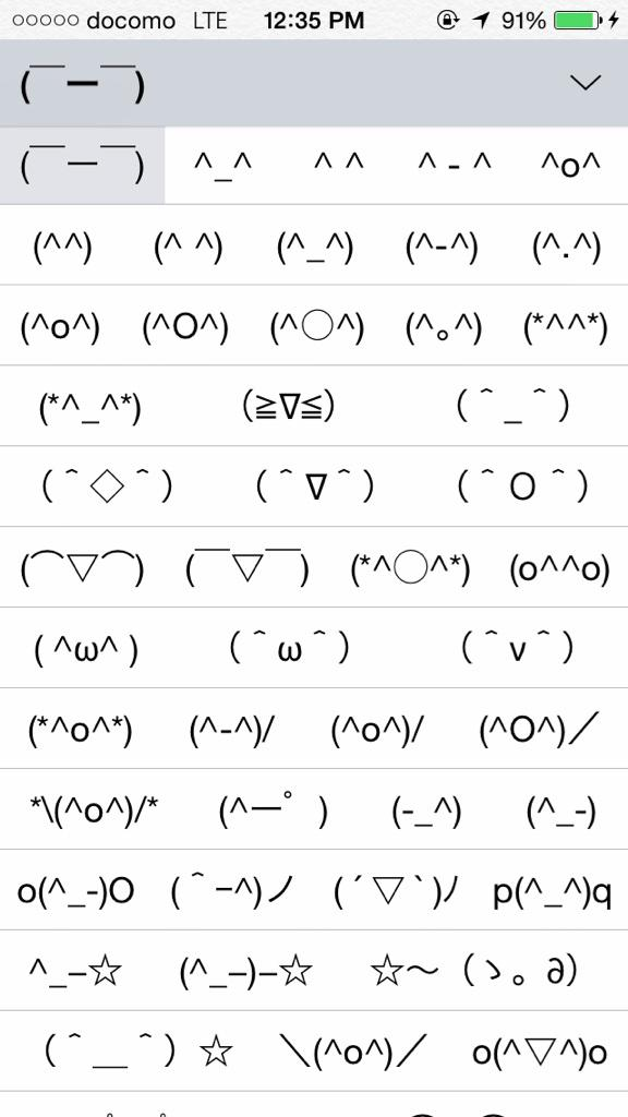 Asian style emoticons