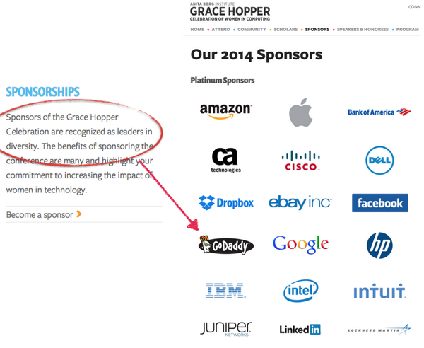 """This is a joke right. """"Leaders in diversity"""" seriously!?!?! @ghc #ghcmanwatch http://t.co/YZ79r03CJj"""