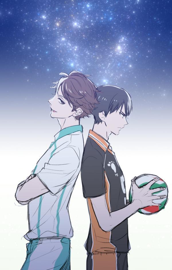 及川さんと影山君 pic.twitter.com/7Vk2Vuo0L4