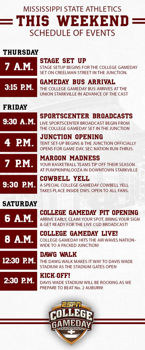 future college football schedule saturday selections college gameday