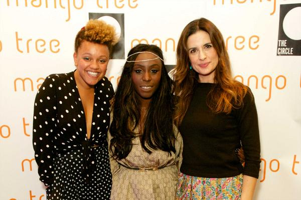 Such an amazing evening with @liviafirth, @LauraMvula & @GemCairn at @MangoTreeLondon for our @Circleorg event! http://t.co/Y26pte88W6