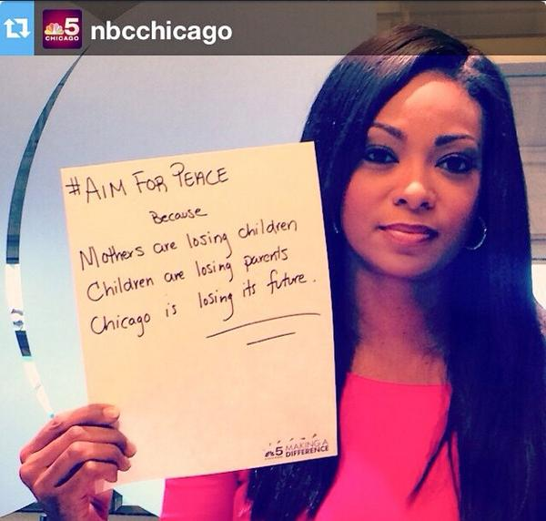 Why do you #aimforpeace ??? Share your #aimforpeace message. @nbcchicago #Chicago #StopTheViolence http://t.co/uIJVqWO4lB