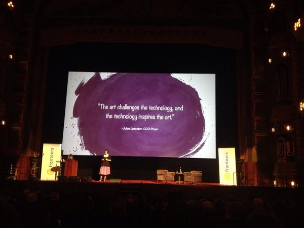 """The art challenges the technology, and the technology inspires the art"" @rachelnabors #fronteers14 http://t.co/a5qn24jwCU"