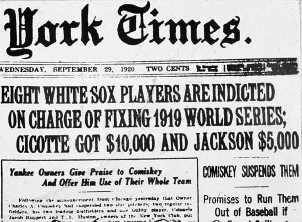 1919 world series black sox scandal Newspaper coverage of the 1919 black sox his senior term papers were on the 1919 black sox scandal the black sox and the 1919 world series (new york.
