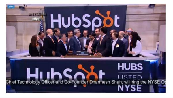 Team @HubSpot ringing the opening bell at #NYSE for $HUBS Thank you to all our supporters and believers. YOU rock! http://t.co/cbfO6QUarT