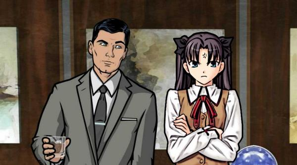 Fate/Stay Night thought: is it me, or is the chemistry between Rin and Archer way different? http://t.co/aYs2Ws3vRs