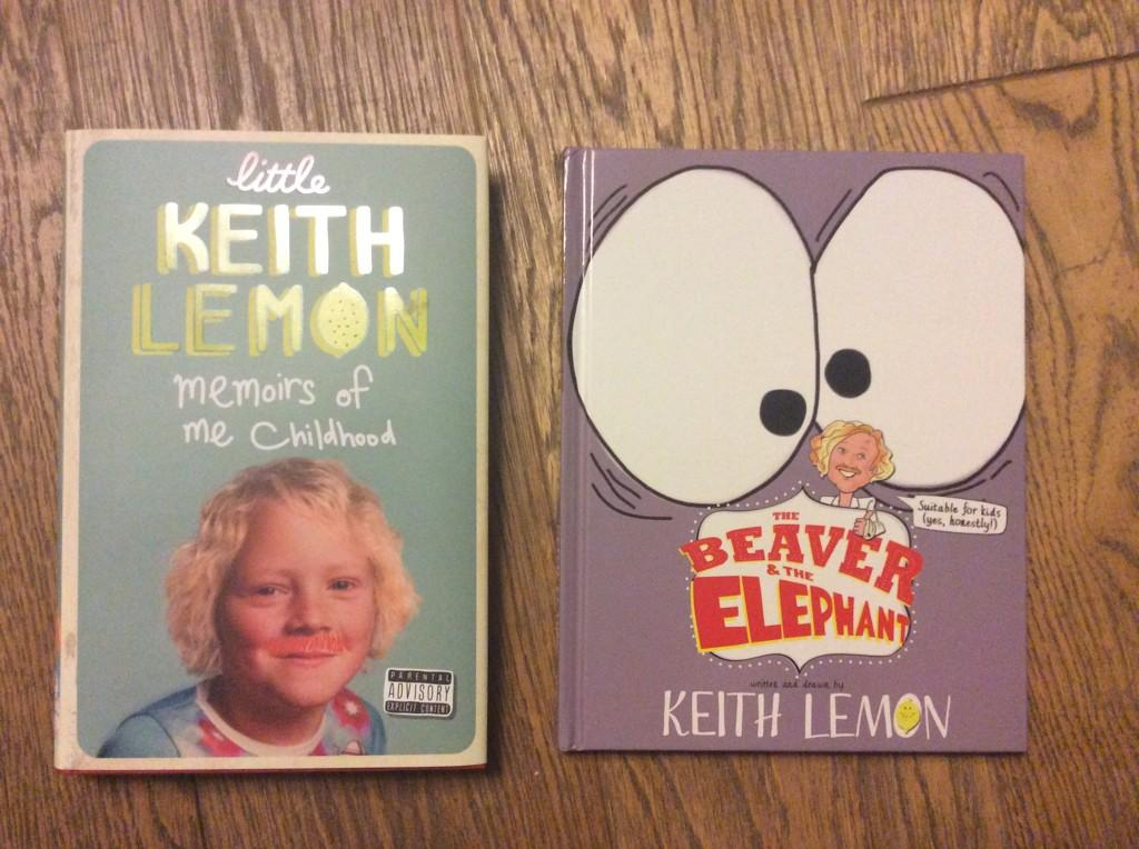 Werd! Got me first prints of me books.The Beaver & the Elephant out Oct 23, little Keith lemon out nov 6! Hope u like http://t.co/i3YFGrdiBo