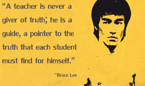 Wise words from the great man! Definitely applies to today's teaching environments! #BruceLee #ulearn14 http://t.co/85xpgRRiNI