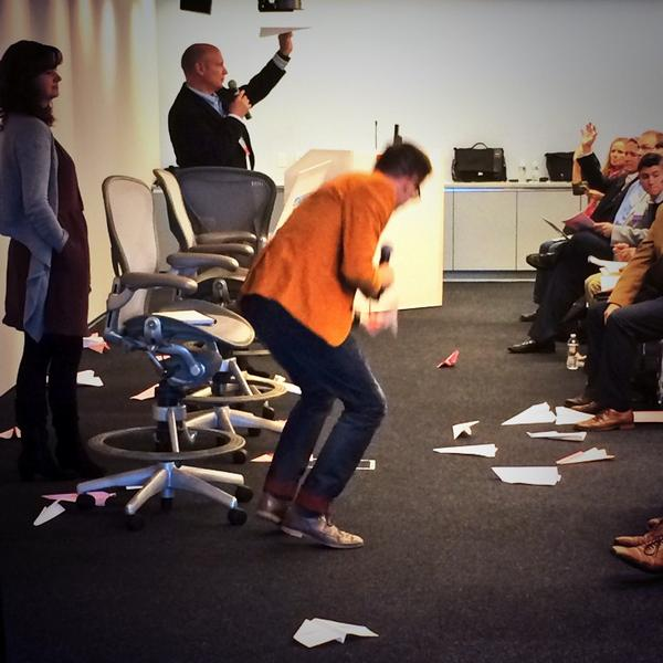 .@BrianMatt @iamctodd @TheBIF talk creating a blue print for innovation - with paper airplanes! #ProdInno http://t.co/ENBBVfSY9Q