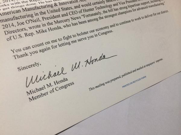 Why is @mikehonda17 using tax dollars to fund his campaign? That seems unethical. #CA17 http://t.co/RbagifyuRt