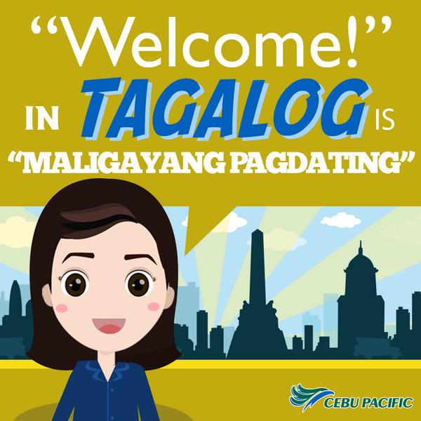 Maligayang pagdating in cebuano words