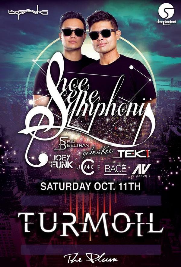 "Get your tickets for ""TURMOIL""  this weekend featuring @ShoeSceneSmfny !! For VIP services call/text 915-216-3623 http://t.co/1Lgm31VCbB"