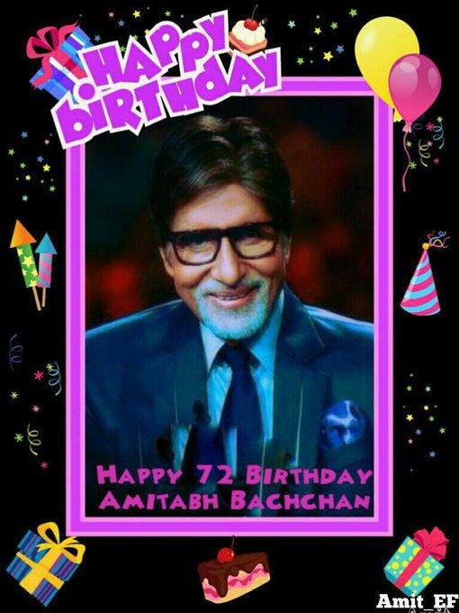 Wish You Happy Birthday Amitabh Bachchan