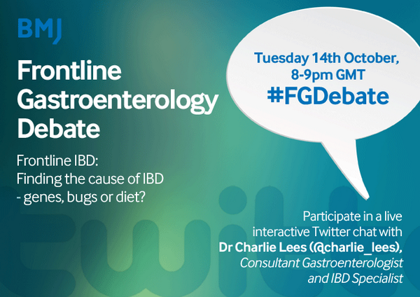 Tonight: Finding the cause of #IBD with @charlie_lees & @FrontGastro_BMJ #FGDebate http://t.co/E04x9b8Trj