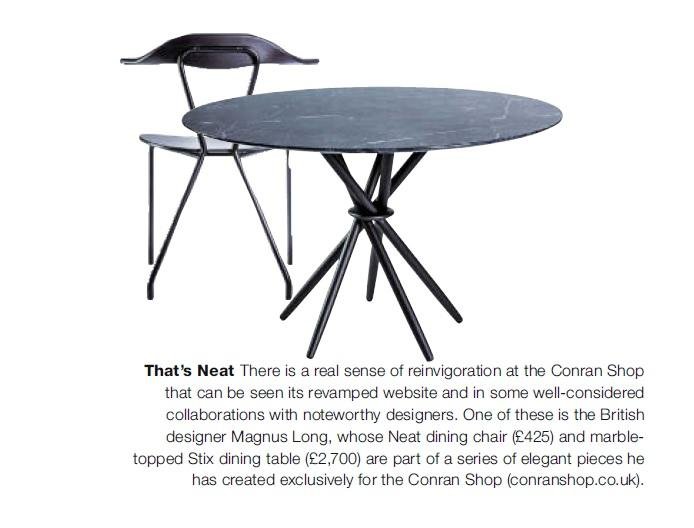The Conran Shop On Twitter Stix Dining Table And Neat Dining Chair