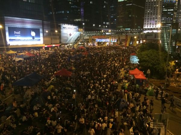 Hong Kong Protest Leaders: Let's Fill 'Every Inch' of Streets
